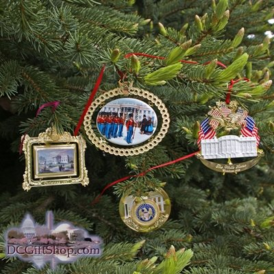 1994 - 1997 Set of Four White House Ornaments