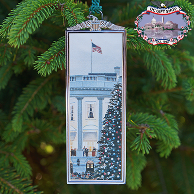 White House Christmas Tree Lighting Bookmark Ornament
