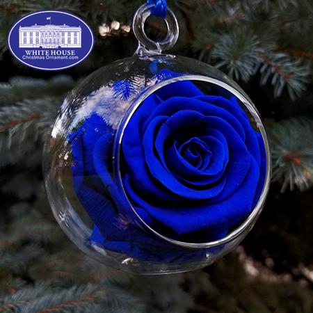 Royal Blue Rose Garden Ornament