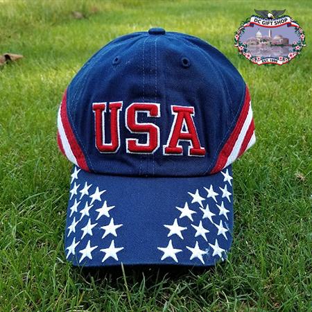 USA Stars and Stripes Baseball Cap