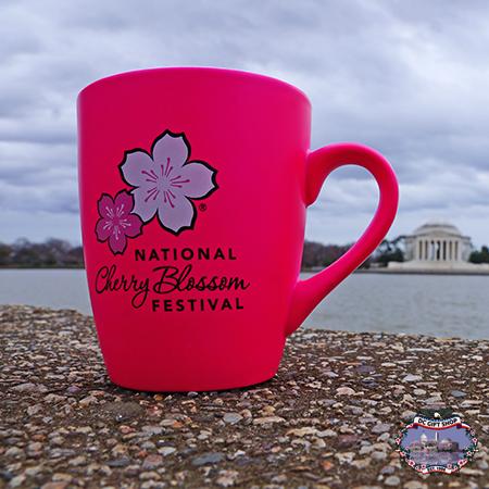 Hot Pink Cherry Blossom Bistro Mug