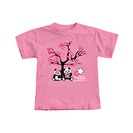 Pink Panda National Cherry Blossom Festival Tee Shirt