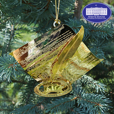 2018 United States Constitution with Quill Ornament