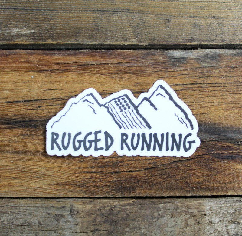 Rugged Running Sticker
