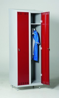 Garderobeskap med sylinderlås - Velg farge og størrelse