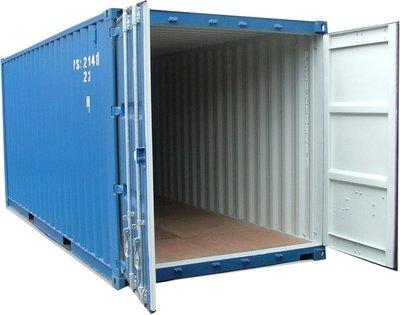 Dekkreolpakke - Løsning til 20 fots container, 2 rekker