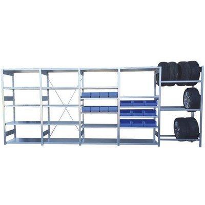 BITO garasjereol pakkeløsning, inkludert reolkasser