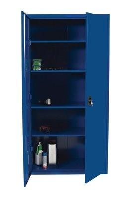 Låsbart stålskap 180 x 80 x 40 cm, Farge grå eller blå