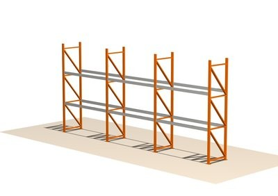 Brukte pallereoler 4 m høyde med 27 pallplasser