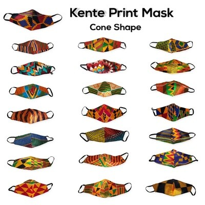Cone Kente Mask