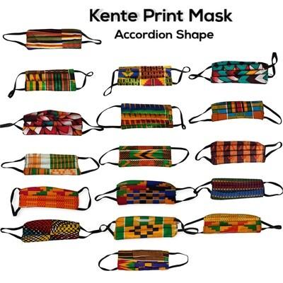 Accordion Kente Mask