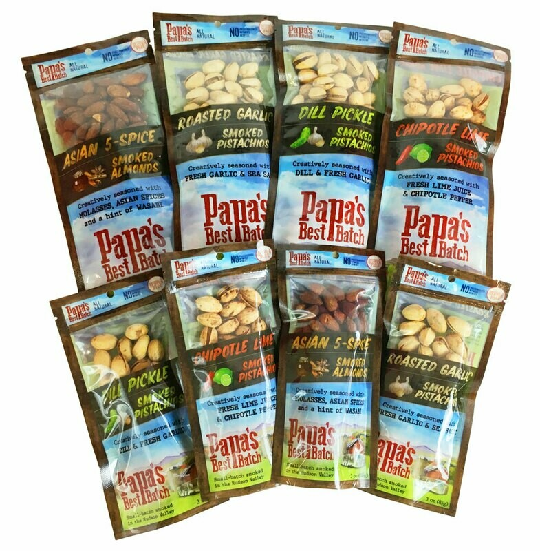 Mixed Case 8oz Bags of Nuts (6 each flavor)