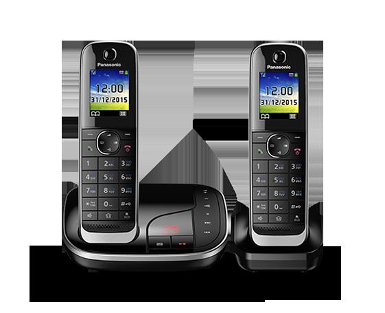 Цифровой беспроводной телефон с автоответчиком Panasonic KX-TGJ322RU (2 трубки)