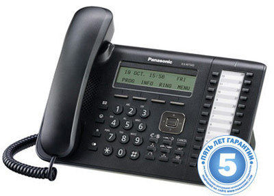 IP телефон, черный KX-NT543RU-B