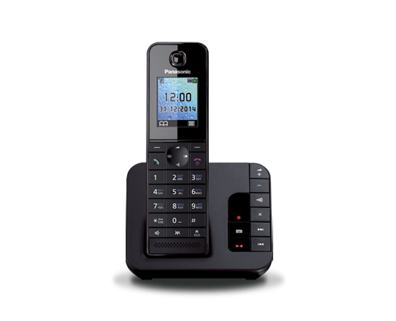 Цифровой беспроводной телефон с автоответчиком Panasonic KX-TGH220RUB с одной трубкой