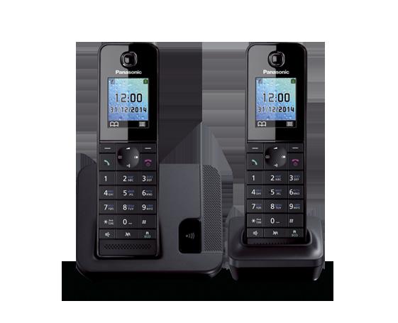 Цифровой беспроводной телефон  Panasonic KX-TGH212RUB с двумя трубками