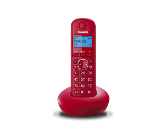 Цифровой беспроводный телефон Panasonic KX-TGB210RUR с одной трубкой