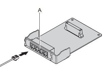 Плата подключения 4 аналоговых линий KX-HT82480X