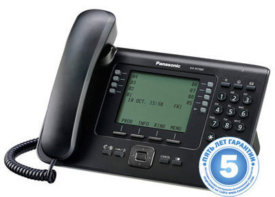 IP телефон, черный KX-NT560RU-B