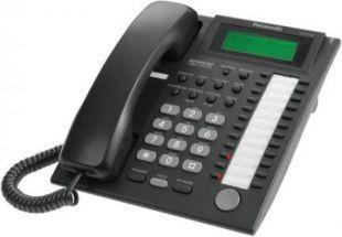 Аналоговый системный телефон с ЖК 24 клавиши, черный KX-T7735RU-B
