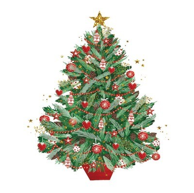 New for 2021 - Classic Christmas Tree - pack of ten