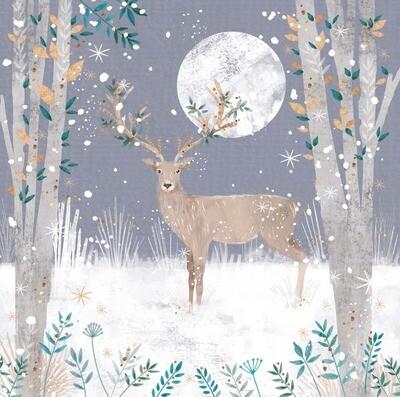 New for 2021 - Pretty Moonlit Deer - pack of ten