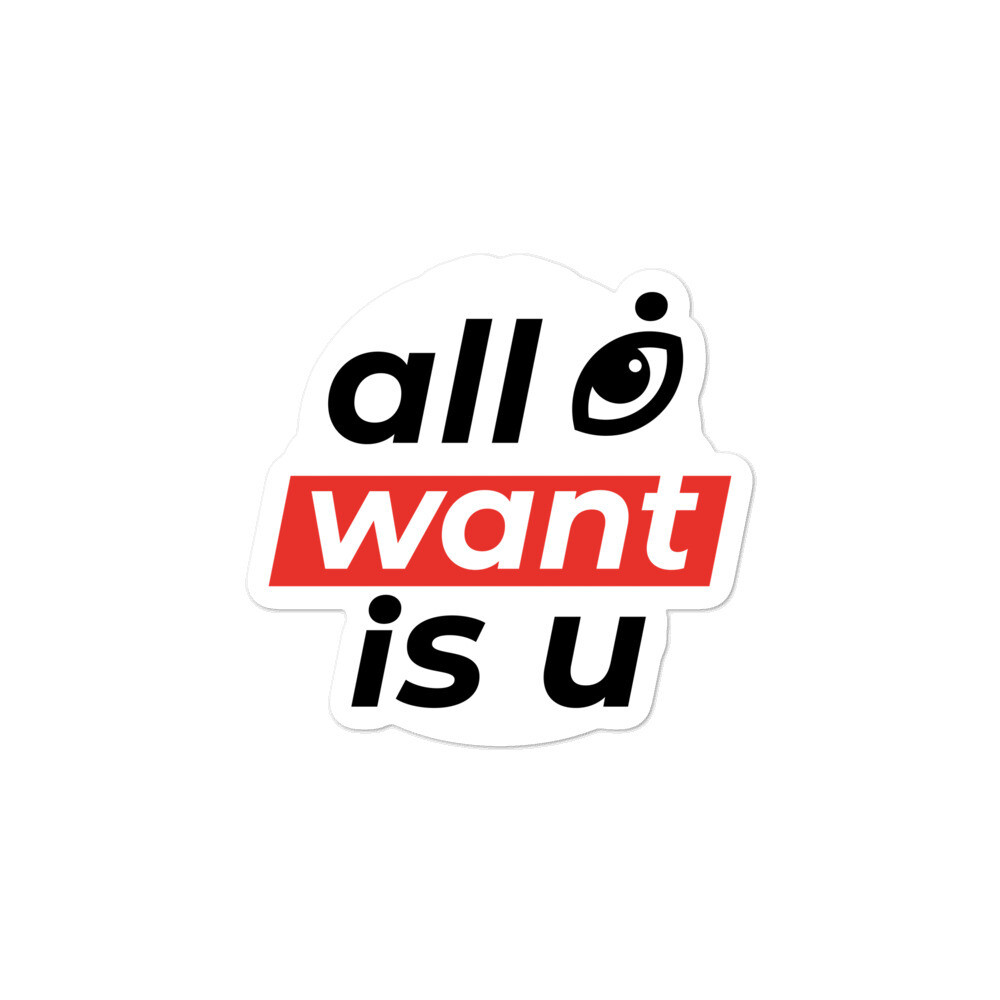 """Lyric Collection """"All Eye Want is U"""" Bubble-free Stickers"""