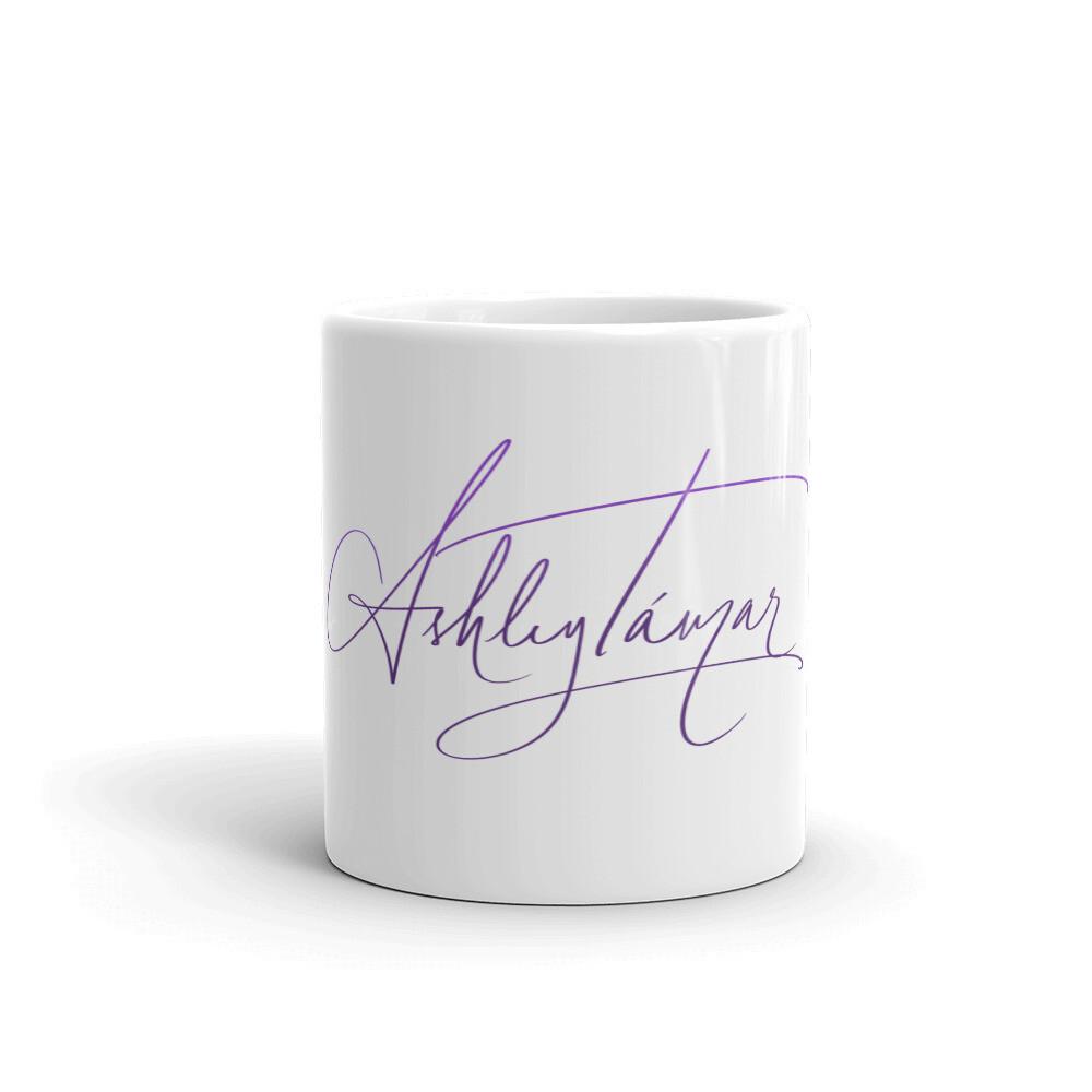 Signature Collection White Glossy Mug