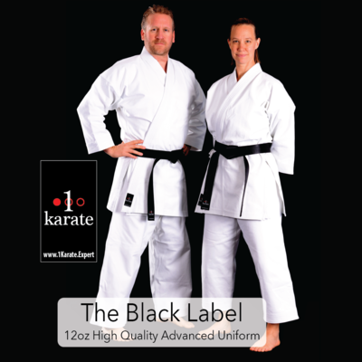 The Black Label - 12oz Brushed Cotton Karate Uniform