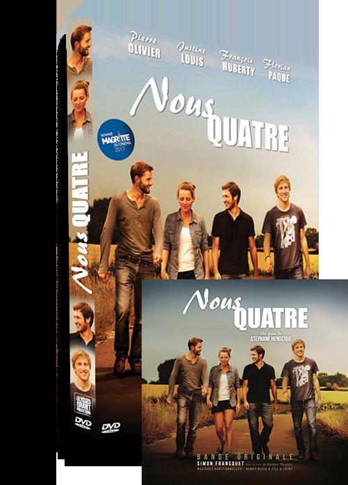 "PACK DVD ""NOUS QUATRE"" + CD Bande Originale"