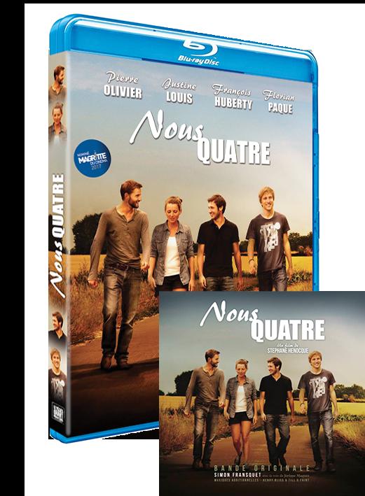 "PACK BLURAY film ""NOUS QUATRE"" + CD Bande Originale"