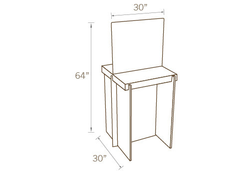 TWO SIDED COUNTER TABLE