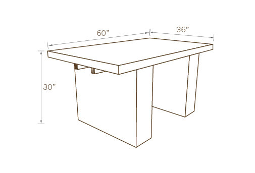 CONTEMPORARY TABLE 01, 60