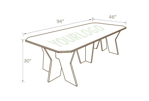 DESIGNER CONFERENCE TABLE 01 WITH CUTOUT LOGO