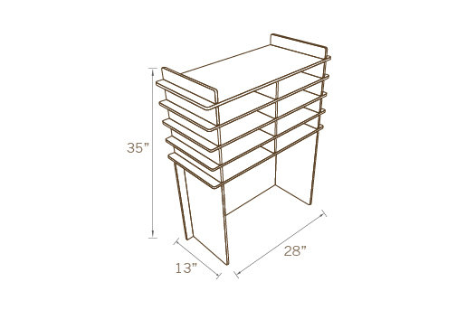 INTERIOR DIVIDER FOR COUNTER TABLE