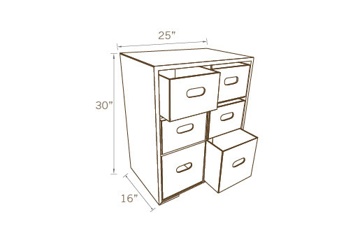 FILE CABINET WITH DRAWERS