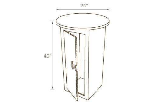 ROUND COCKTAIL TABLE 01 WITH STORAGE