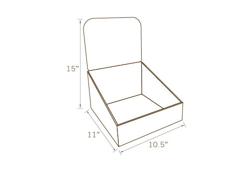 COUNTER TOP DISPLAY 01, TEMPORARY (SET OF 4 UNITS)