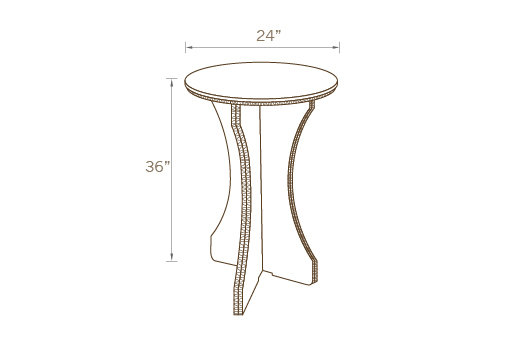 ROUND COCKTAIL TABLE 02