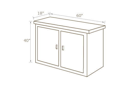 COUNTER TABLE 01, 60