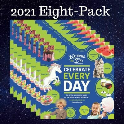 8-Pack | Official Celebrate Every Day National Day Wall Calendar 2021