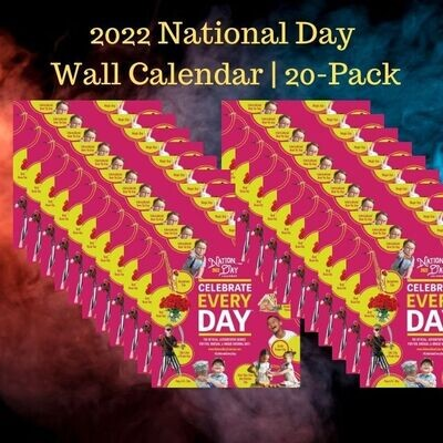 20-Pack | 2022 Official Celebrate Every Day® National Day Wall Calendar