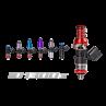 Injector Dynamics ID1050X, for GM LS3/LS7/L76/L92/L99, Standard (no adaptor), Orange lower o-ring, set of 8; 1050.34.14.15.8