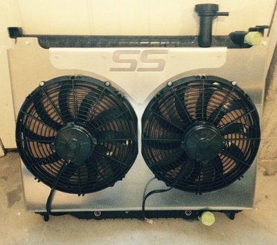 "RPM Custom 13"" Spal Fans for Trailblazer, Trailblazer SS, Saab 9-7X Etc"
