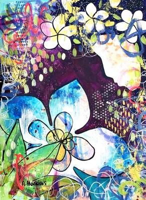 "Umid - Original painting on paper (11.6"" x 16.5"")"