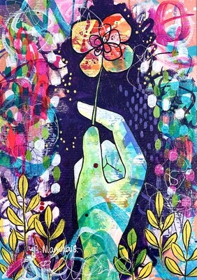 """Esperanza - Original painting on paper (8.1"""" x 11.6"""")"""