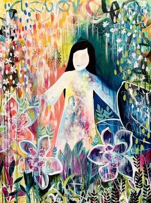 "Harapan - Original painting on canvas (23.5"" x 31.5"")"