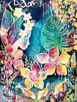 "Dòchas - Original painting on canvas (23.5"" x 31.5"")"