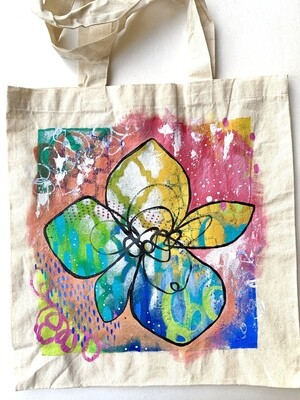 Doodle Flower Tote