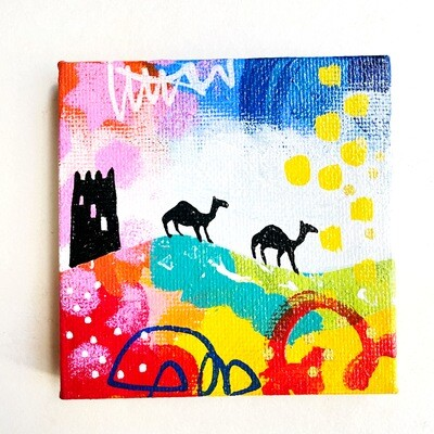 Mini Wind Tower and Camels black